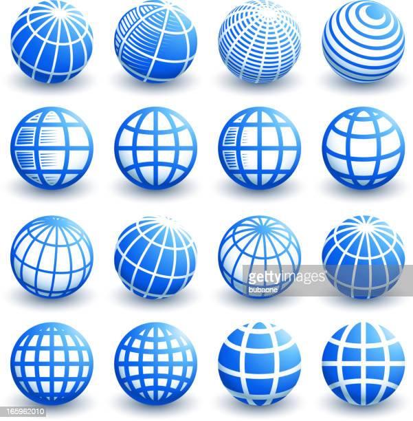 illustrazioni stock, clip art, cartoni animati e icone di tendenza di progetti 3d globo astratto vettoriale e grafica royalty-free - mappamondo
