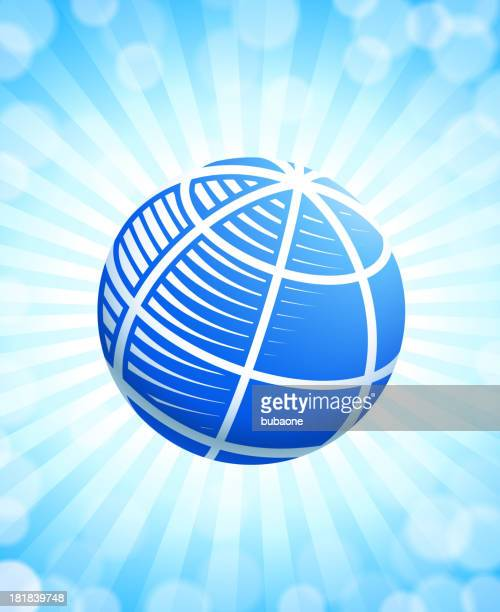 Abstract 3D Globe in blue