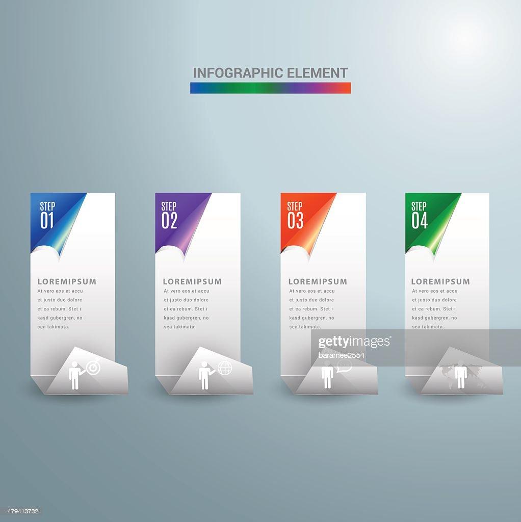 Abstract 3D Modern digital template vector  banner infographics.