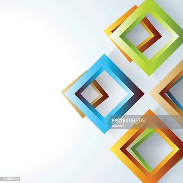 abstract 3D square pattern banner background