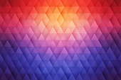 Abstract 3D Vector Geometrical Triangular Background