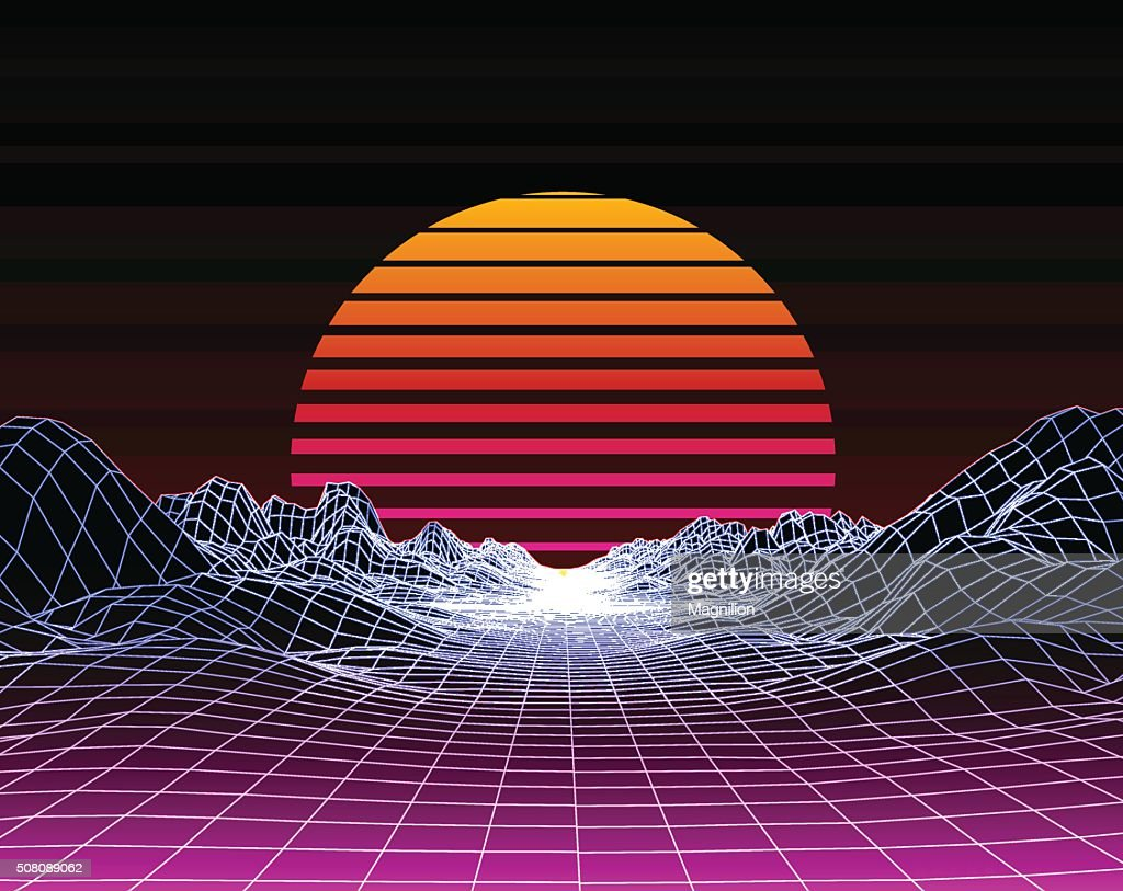 Abstract 80s Style Retro Background : stock vector