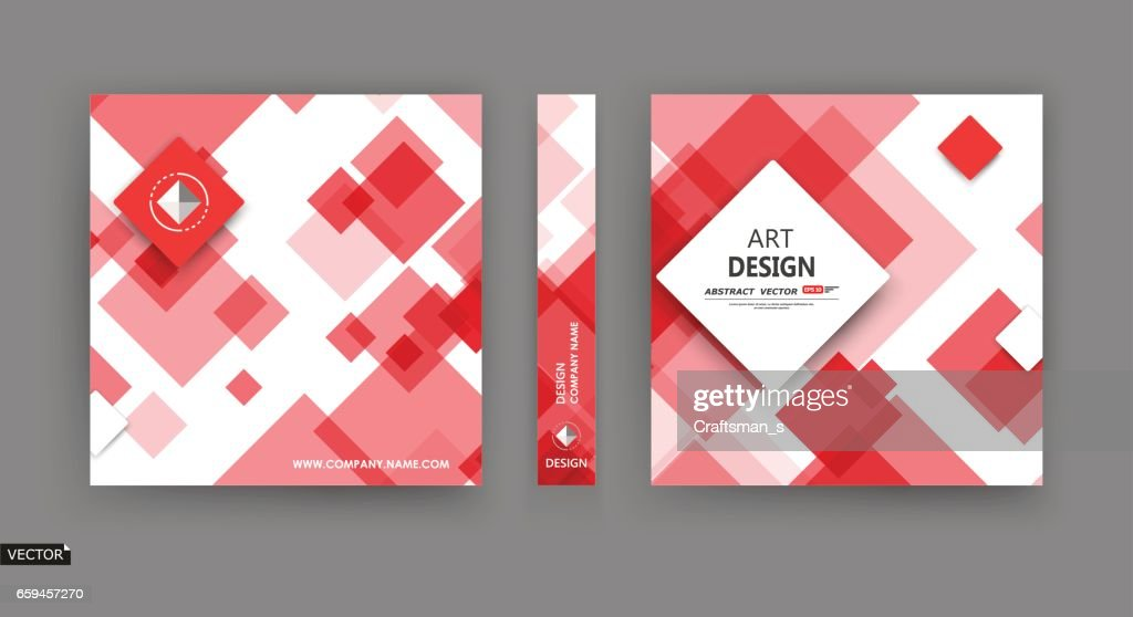 Abstract a4 brochure cover design, info banner frame, title sheet model set, ad flyer, text card font with elegant box block texture. Modern vector front page art. Fancy red, white colored figure icon