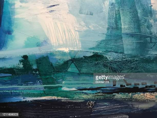 abstract acrylic background - oil painting stock illustrations