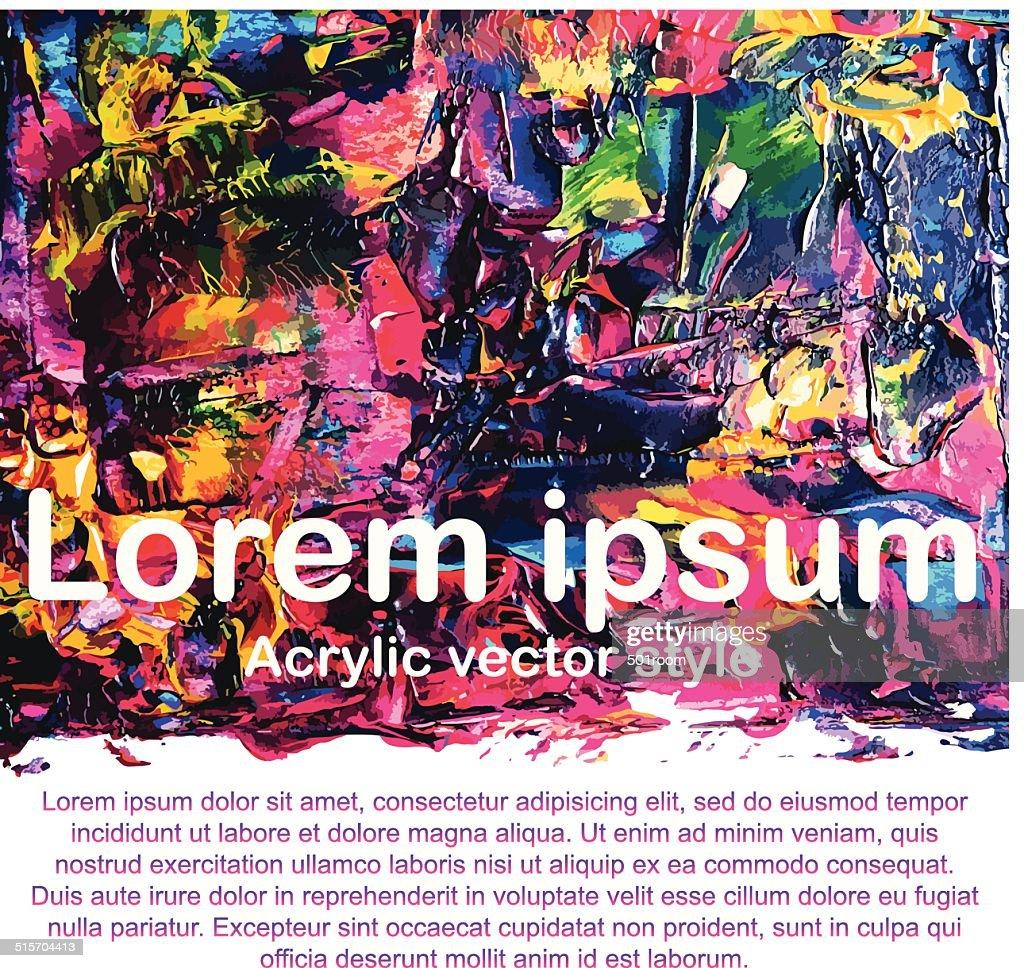 Abstract acrylic paint
