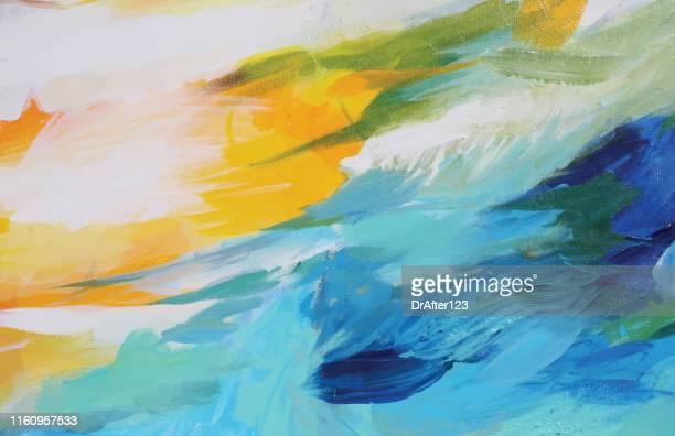 abstrakte acryl-malerei kontrast - acrylmalerei stock-grafiken, -clipart, -cartoons und -symbole