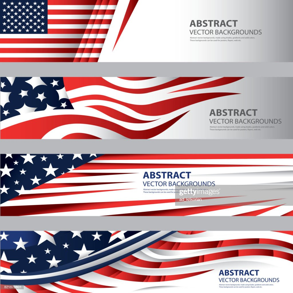 Abstract American Flag Background, USA Art(Vector Art)