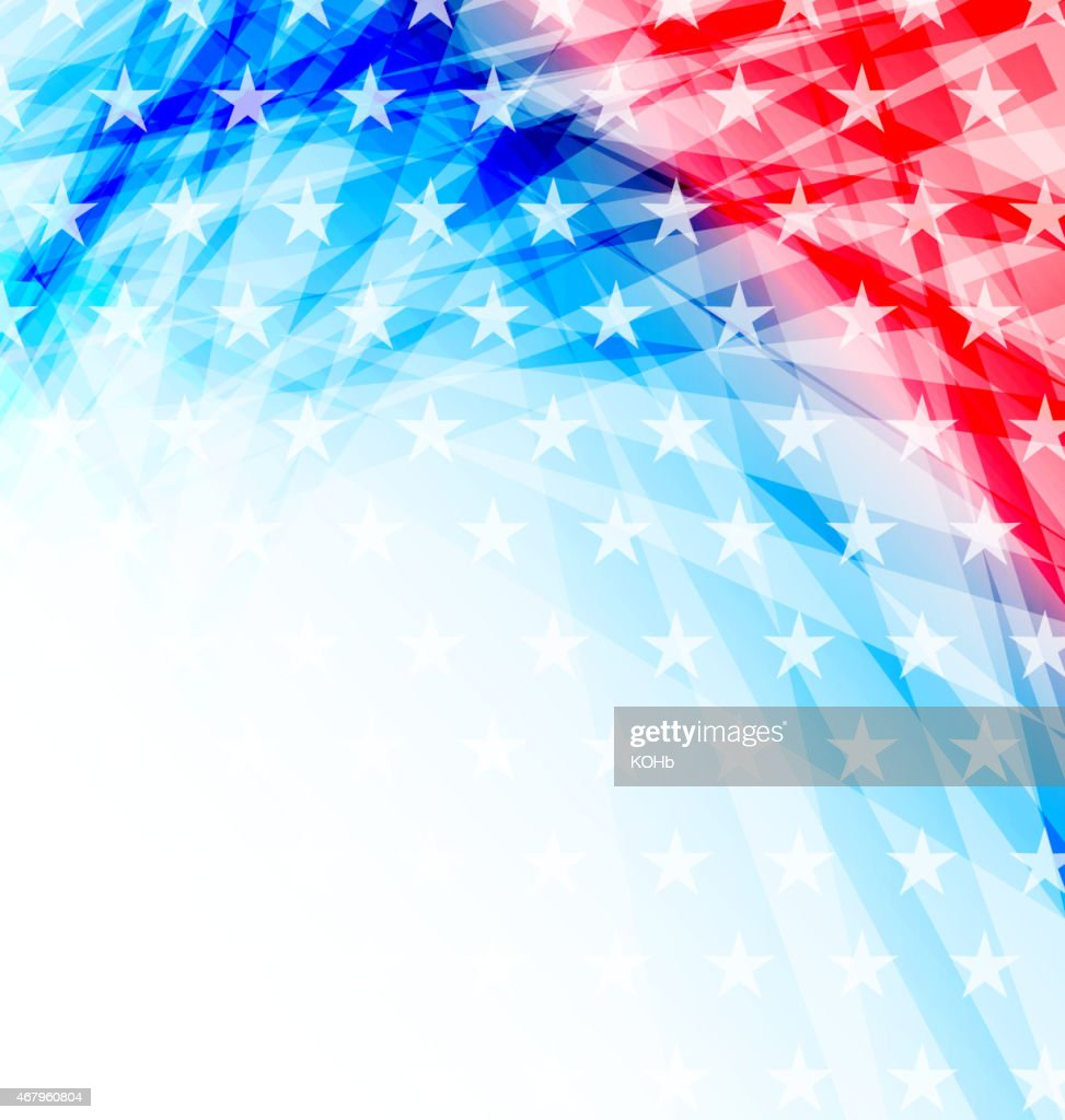Abstract American Flag for Independence Day