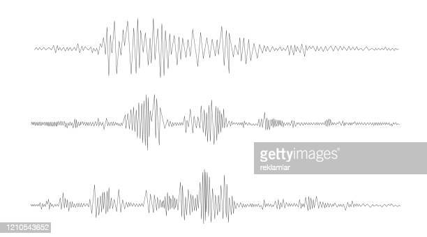abstract analyzing and equalizer, seismograph recording the seismic activity of an earthquake. - earthquake stock illustrations