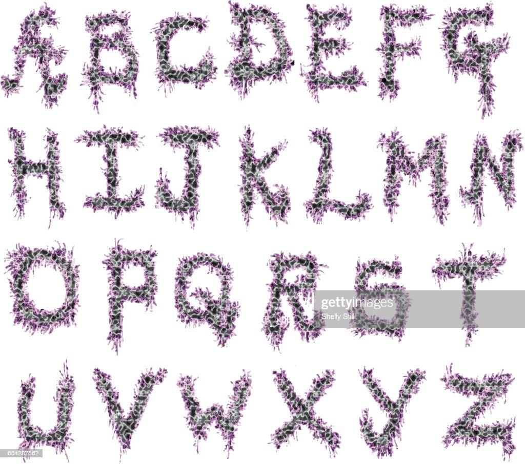 Abstract Animal Print Vector Font