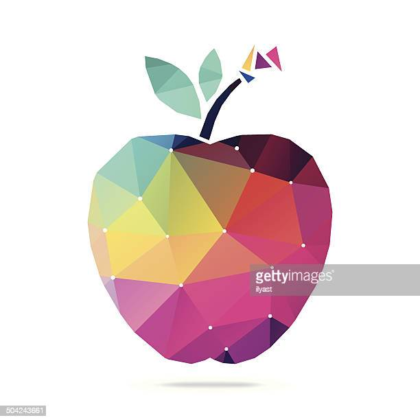 abstract apple - apple fruit stock illustrations