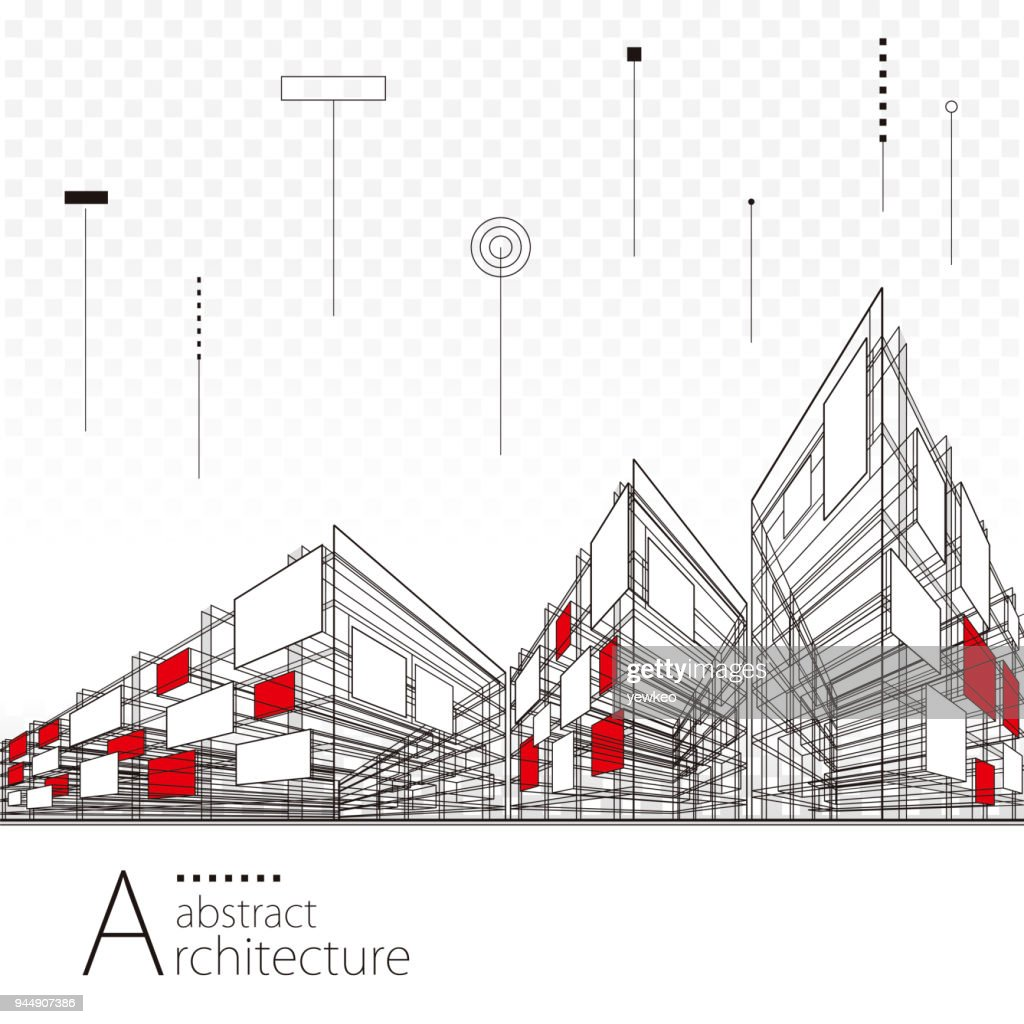 Abstract Architectural Drawing Background