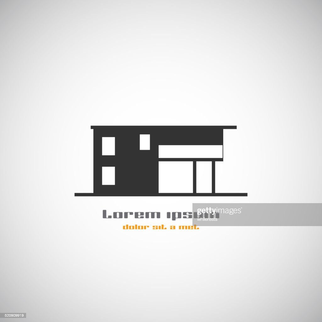 Abstract architecture building silhouette vector logo design template.