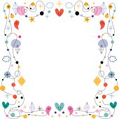 abstract art cute frame