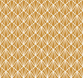 Abstract Art Deco Seamless Background. Geometric Fish Scale Pattern.