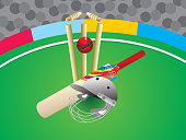 abstract artistic creative cricket background