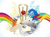abstract artistic creative cricket explode