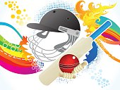 abstract artistic cricket background