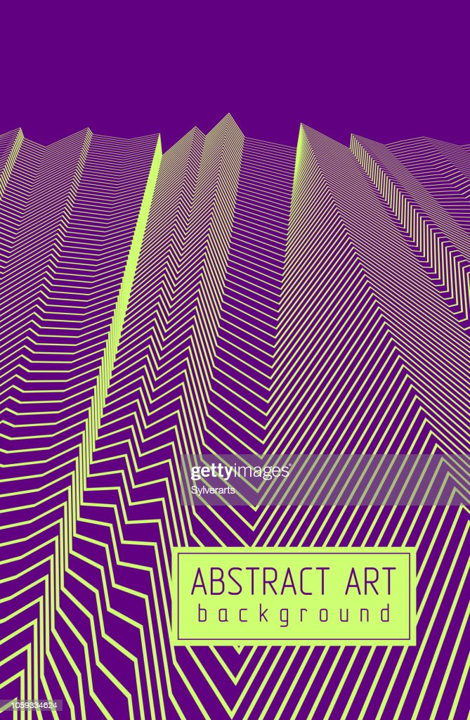 Abstract artistic vector linear background, straight rhythmic geometric 3d lines, textile fabric theme pattern.