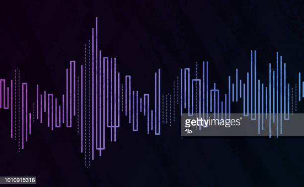 stockillustraties, clipart, cartoons en iconen met abstracte audio wave line abstract - audioapparatuur