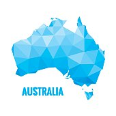 Abstract Australia map - vector illustration.