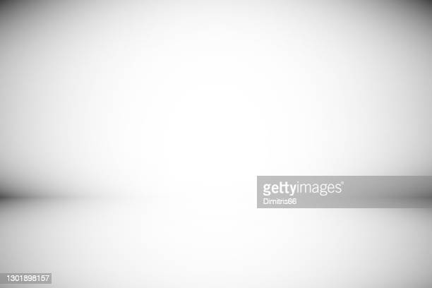 illustrazioni stock, clip art, cartoni animati e icone di tendenza di sfondo astratto sfondo grigio. spazio vuoto minimo con luce soffa - vignettatura