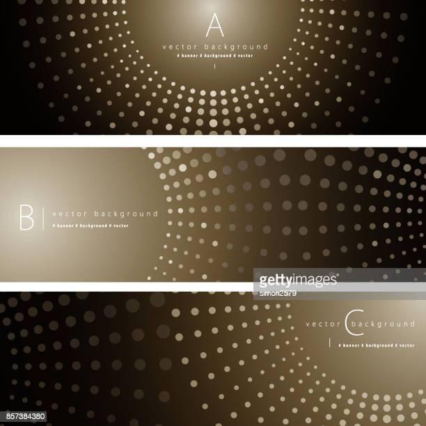 抽象的な背景バナー セット