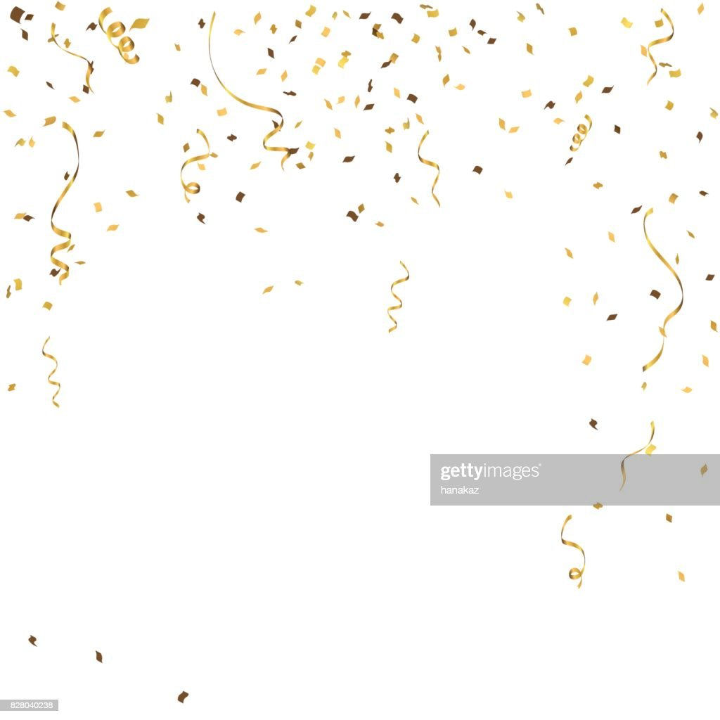 Abstract background celebration gold confetti. vector background