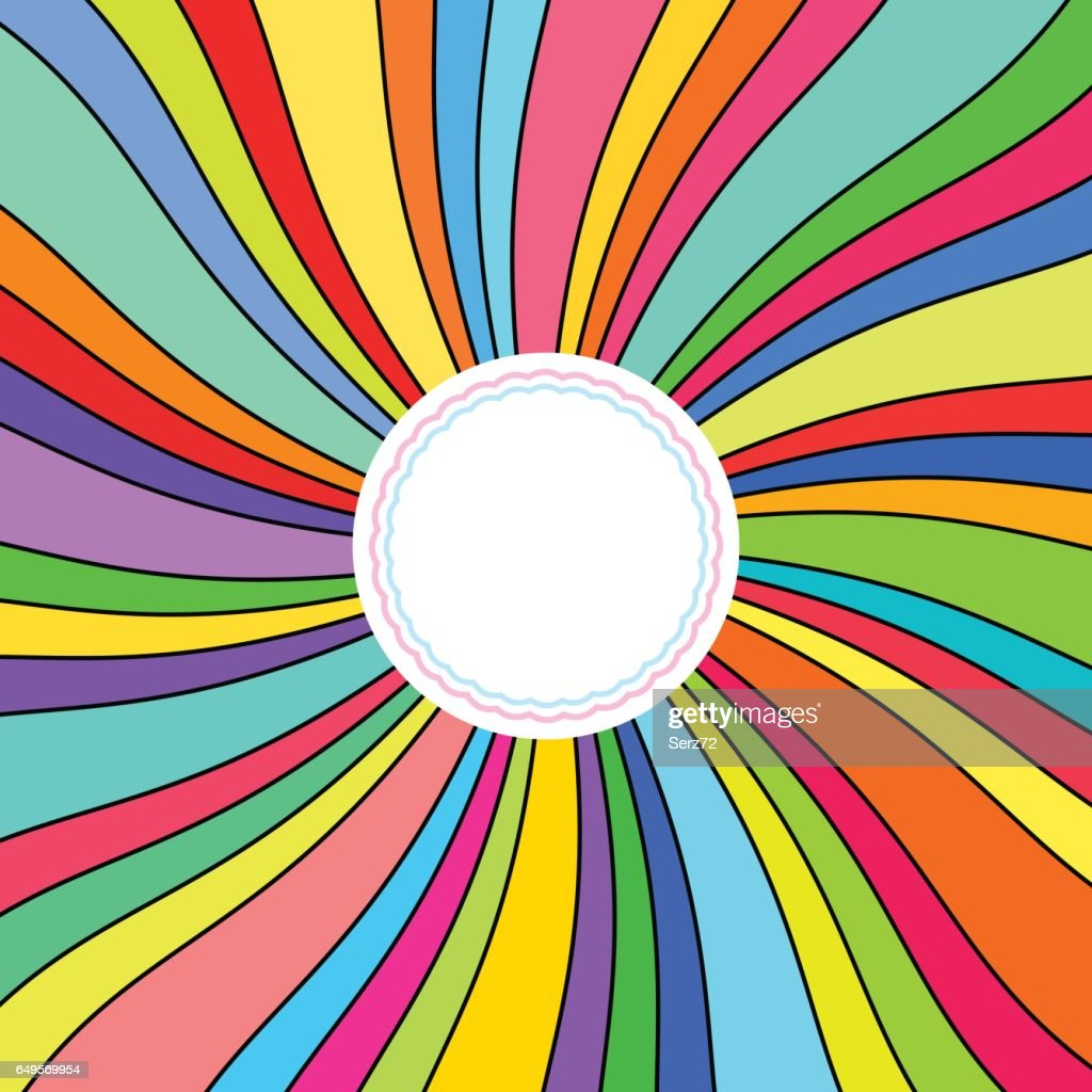Abstract Background, Colorful Rays
