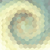 abstract background consisting of beige, pastel green  hexagons