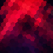 abstract background consisting of black, red hexagons