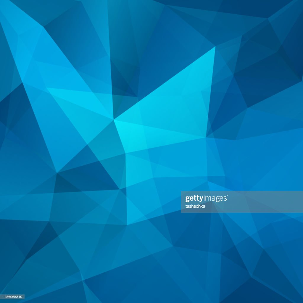 abstract background consisting of blue triangles