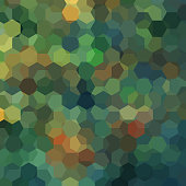 abstract background consisting of green, brown hexagons