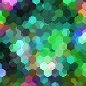 abstract background consisting of green hexagons
