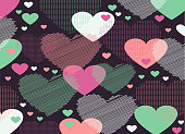 Abstract background consisting of hearts