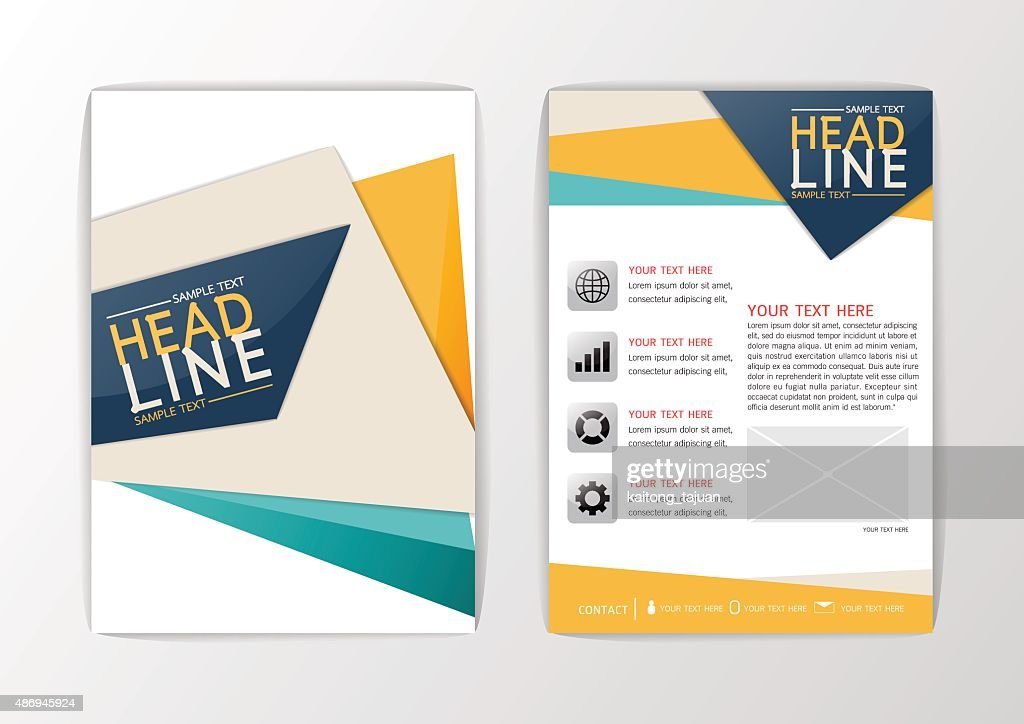 A4 Abstract background Cover design, brochure set, flyer layout, magazine-vector