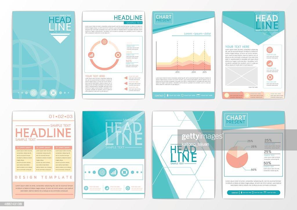 Abstract background design, business brochure big set, flyer, marketing, magazine-vector
