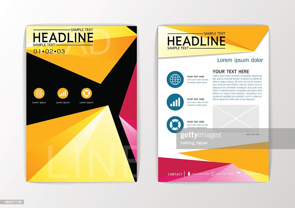 A4 Abstract background, design business brochure set ,flyer layout, magazine-vector : Vectorkunst