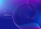 Abstract background design. Fluid gradient with geometric lines and light effect. Motion minimal concept. Vector illustration