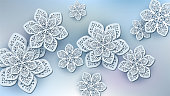 Abstract background flower snowflakes