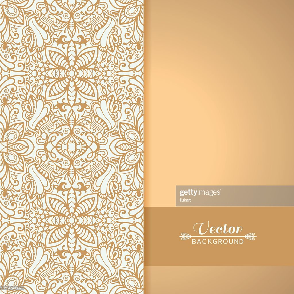 Abstract Background Frame Border Lace Pattern Invitation Greeting