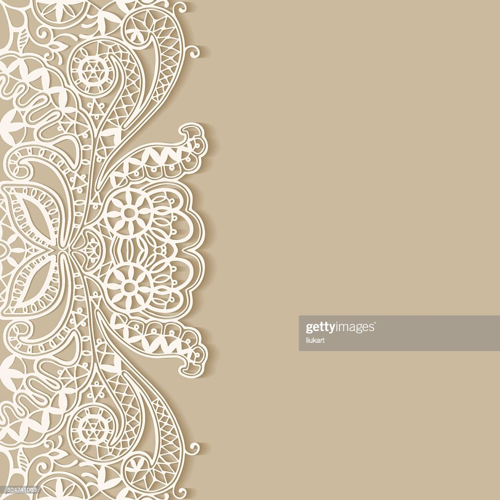 Abstract background, frame border lace pattern, invitation greeting card design