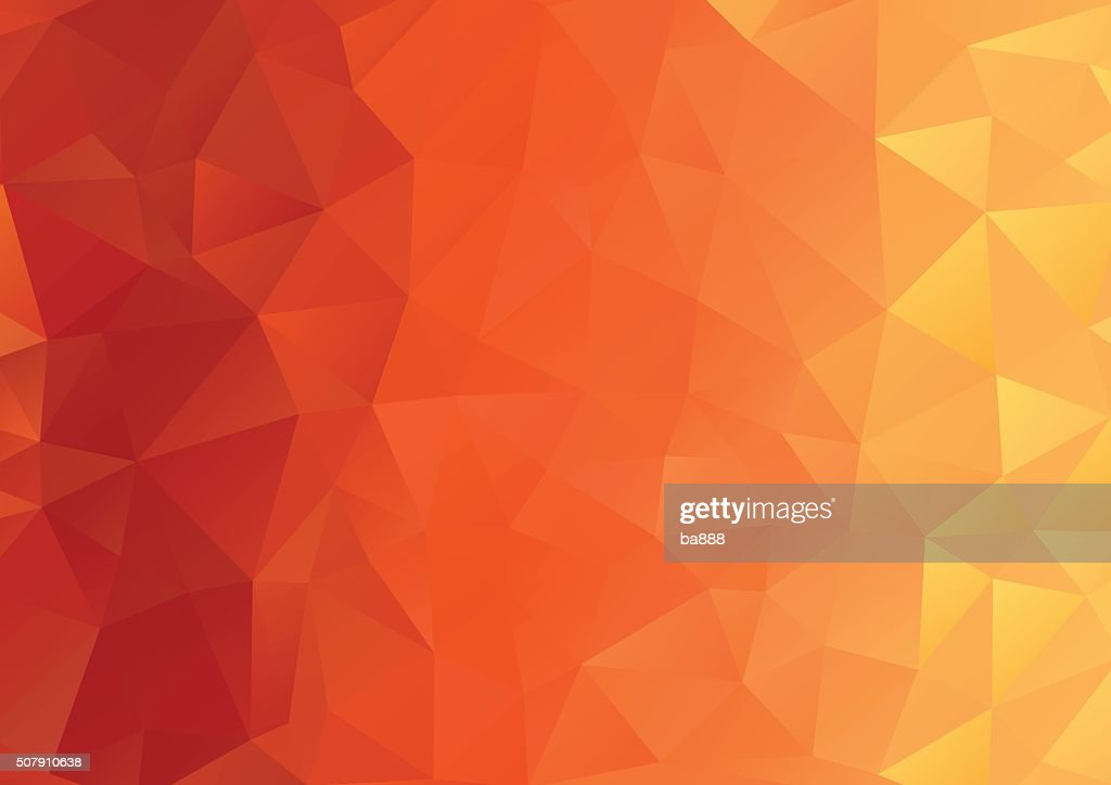 Abstract Background, Geometric, Orange