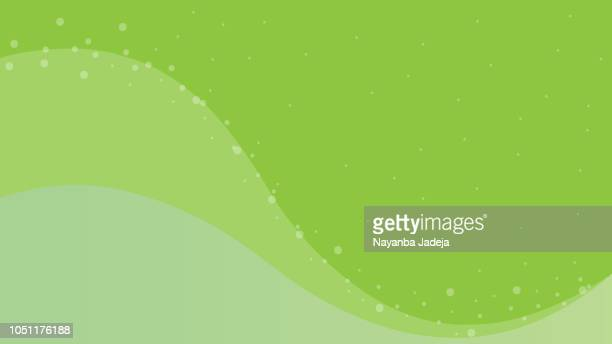 Abstract background Green. Smooth, curve vector graphic