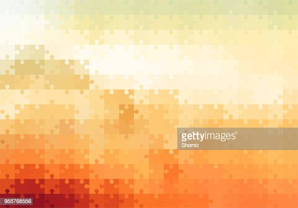 abstract background - illustration - jigsaw piece stock illustrations, clip art, cartoons, & icons