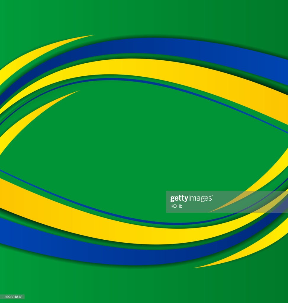 Abstract background in Brazil flag concept