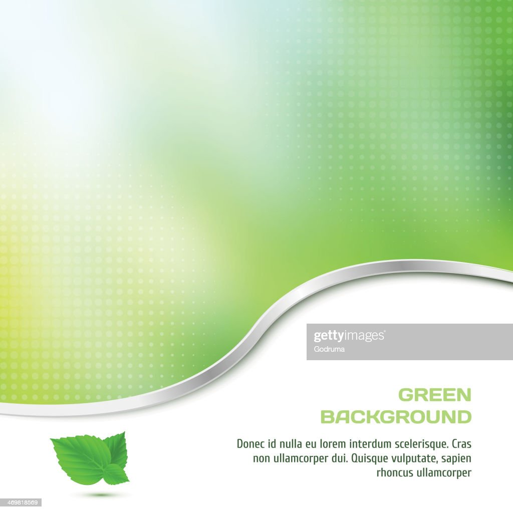 Abstract background in green color with halftone