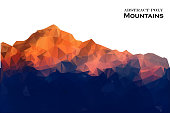 Abstract background mountains polygonal style. Vector illustration. Design element.