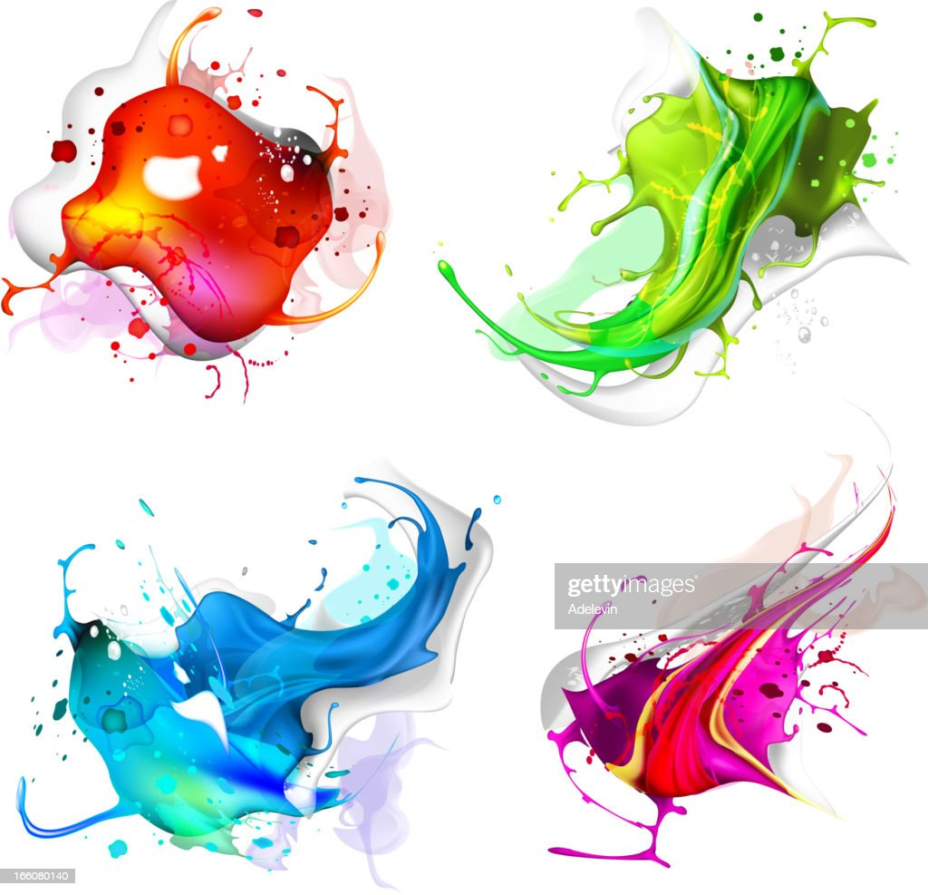 Abstract background of colorful splashes : Stock Illustration