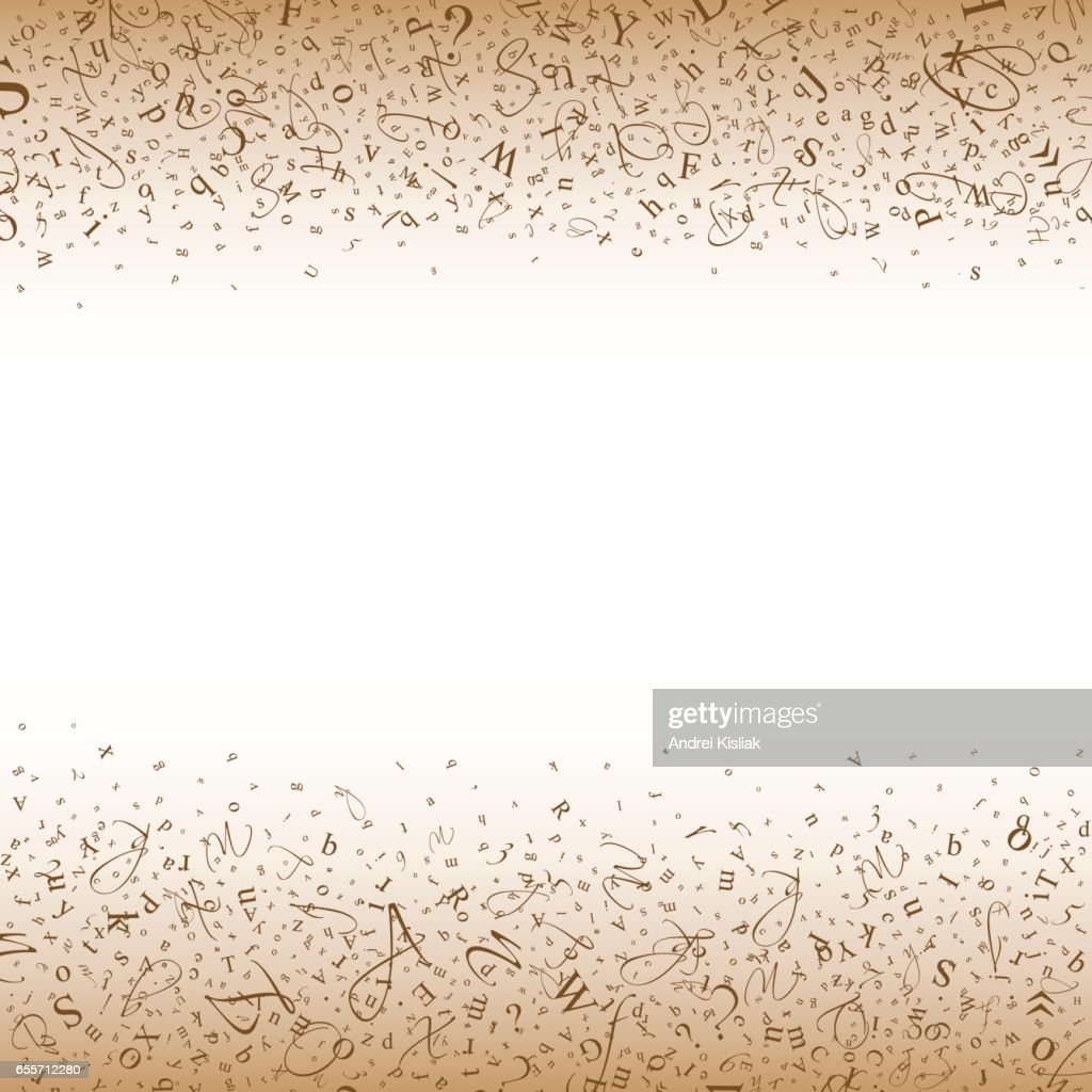 Abstract background of letters and digits.